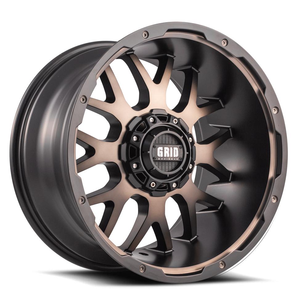 Grid Gd1 Wheels >> Grid GD2 - Matte Bronze and Black - West Coast Wheel & Tire