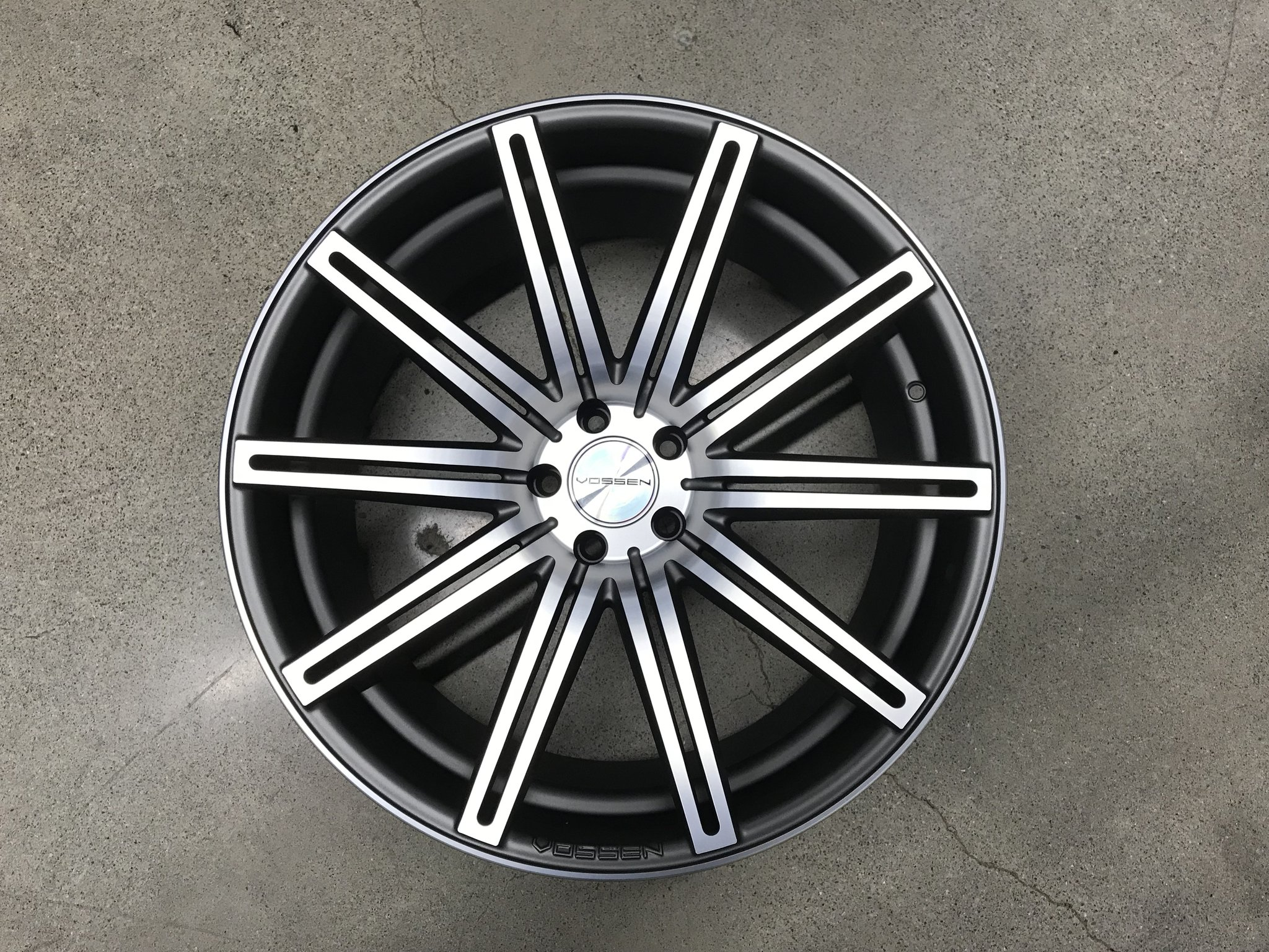 vossen cv4 - matte graphite machined